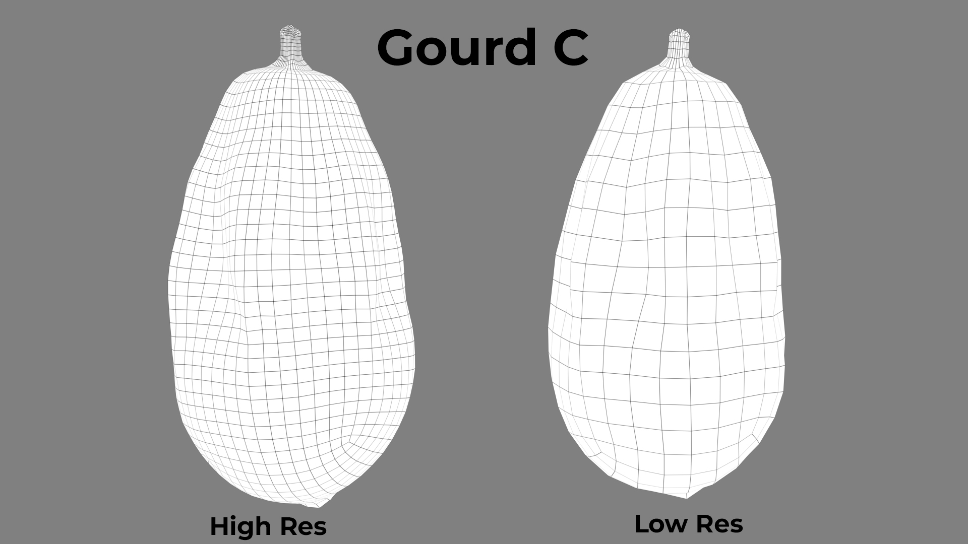 Gourd C wireframe