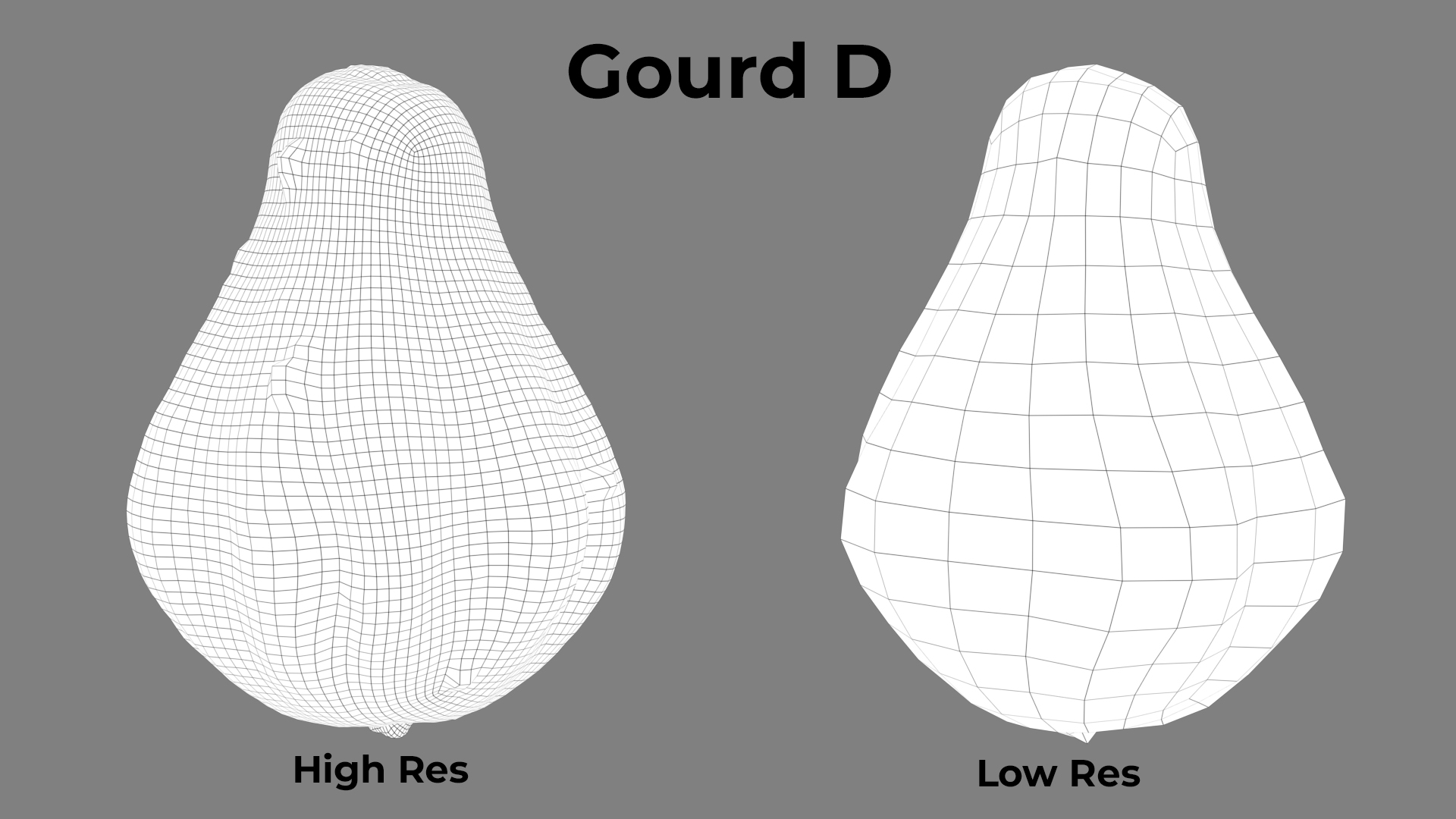 Gourd D Wireframe