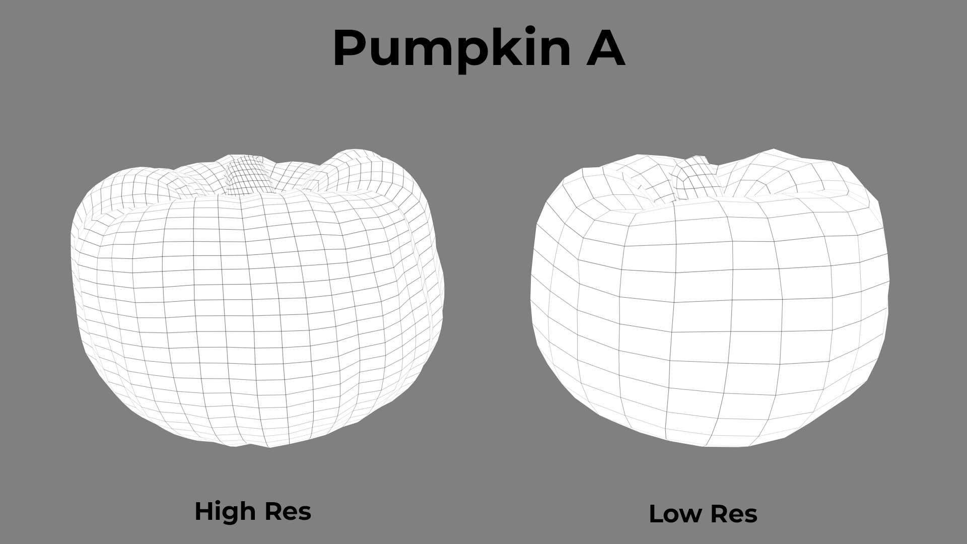 Pumpkin A Wireframe