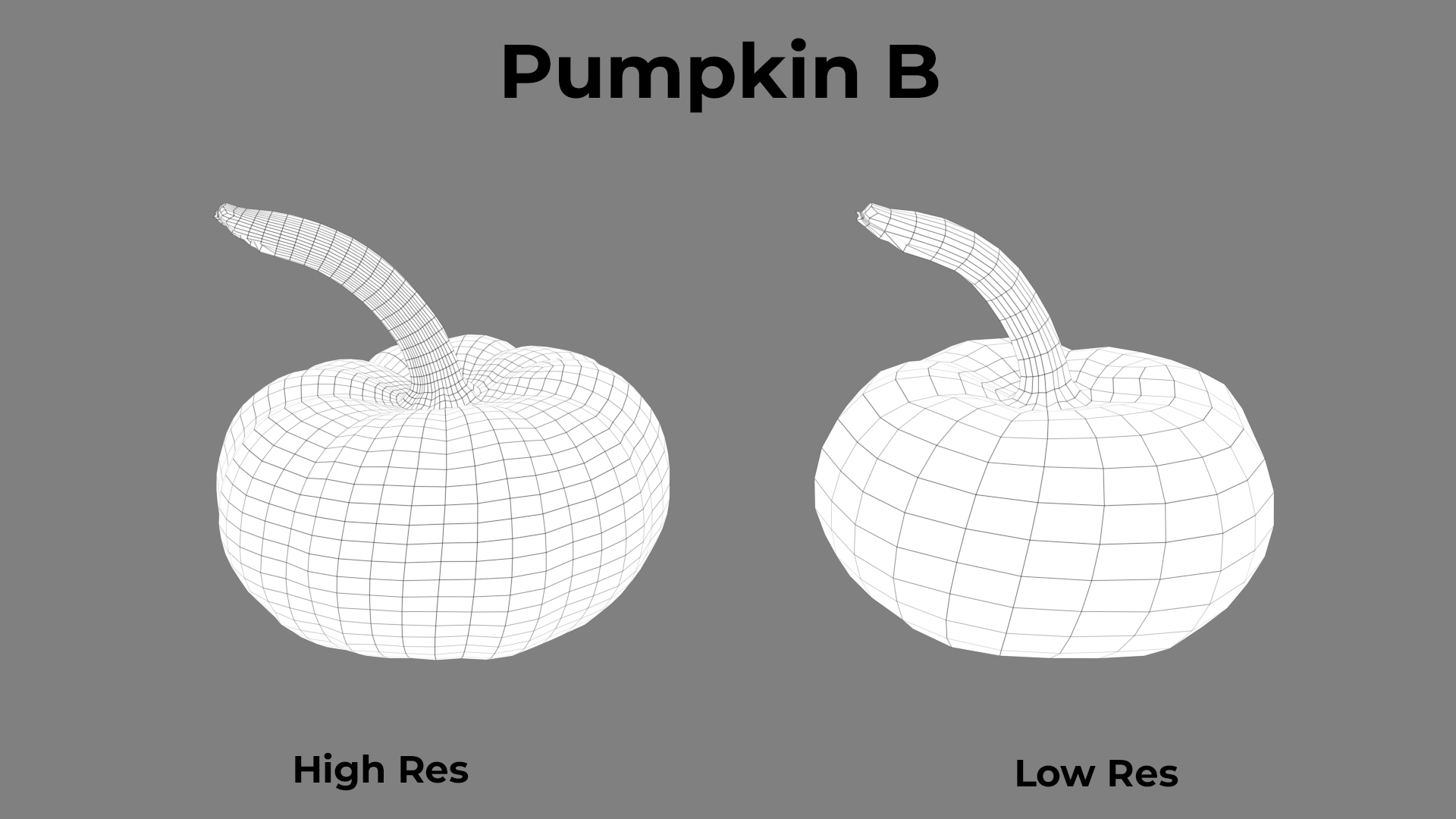 Pumpkin B Wireframe