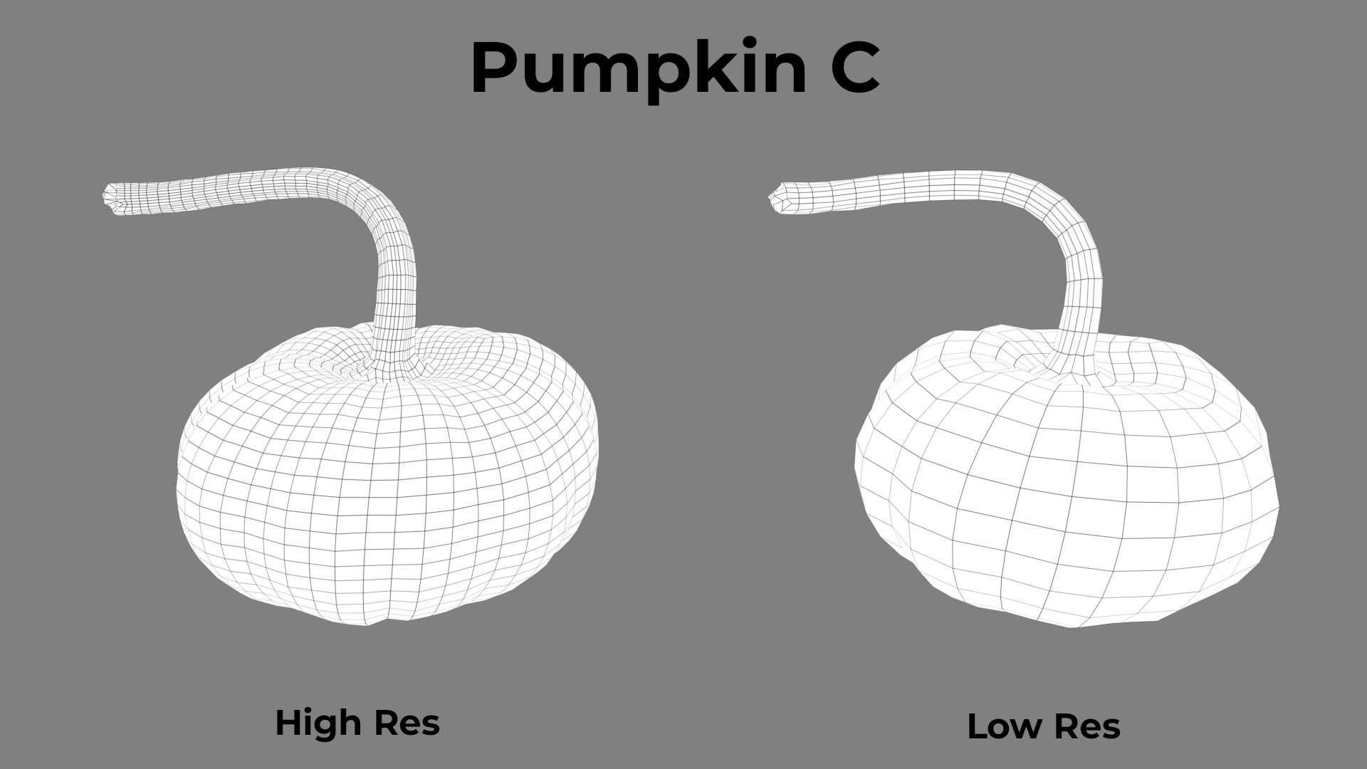 Pumpkin C Wireframe
