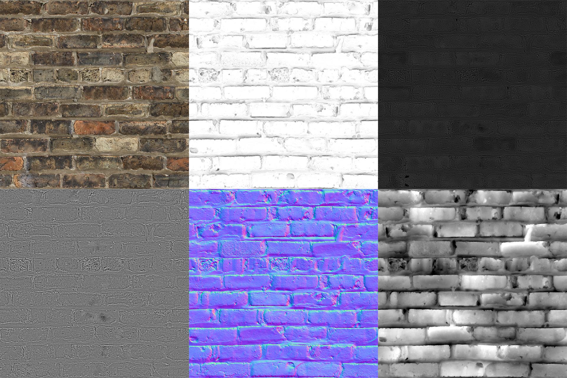 bricks old Dark D Material Parade