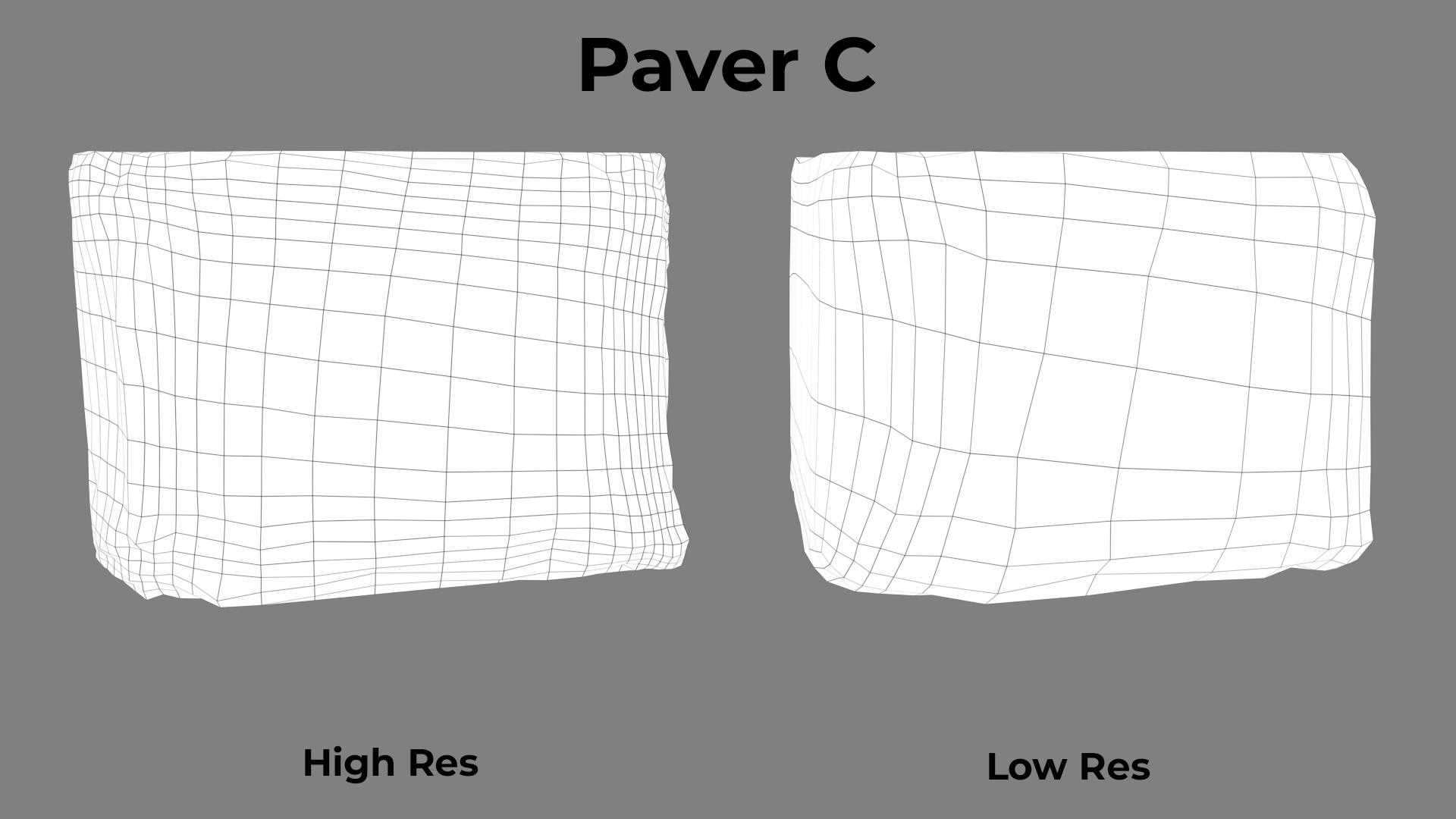 Paver Red Broken C wireframe
