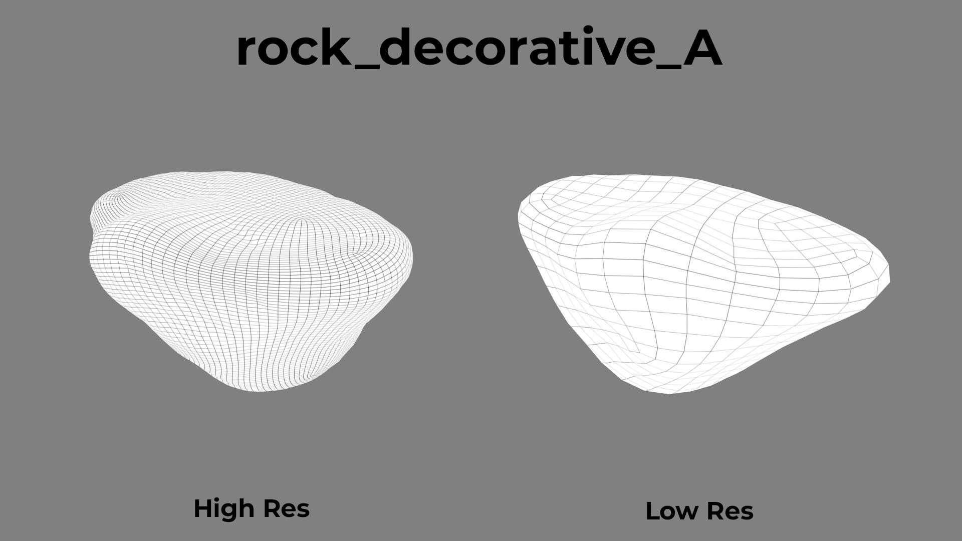 Rock Decorative A wireframe