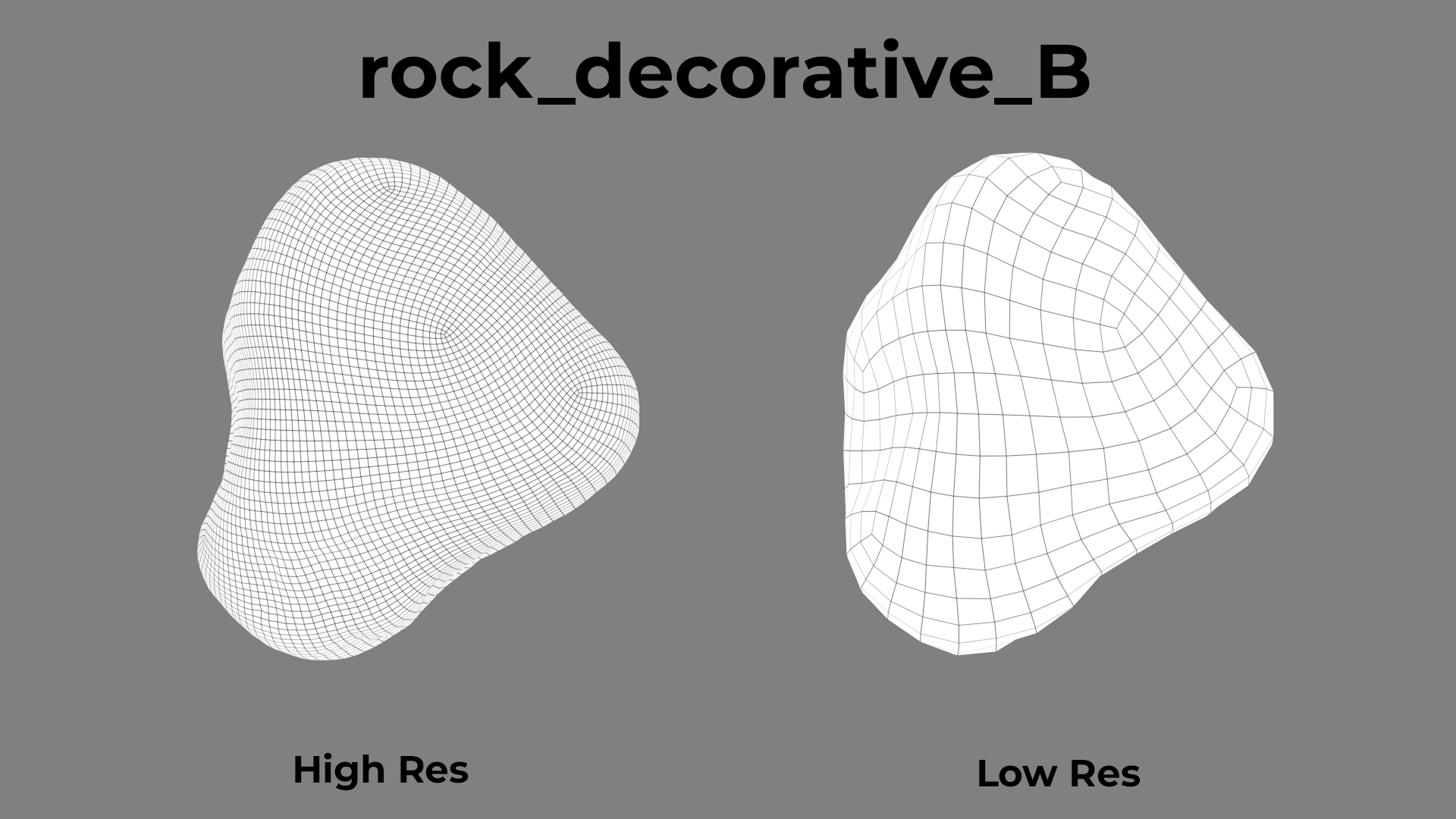Rock Decorative B wireframe