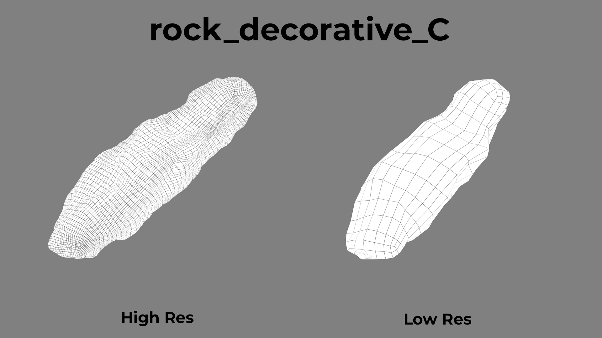 Rock Decorative C wireframe