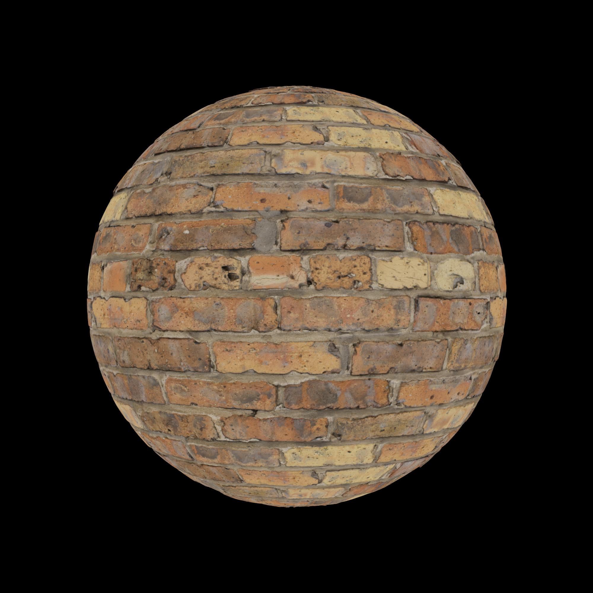 Bricks Old Red G Sphere