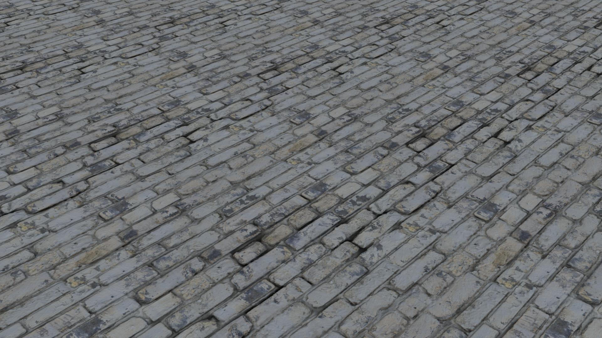 Bricks White Washed Old Light Flat