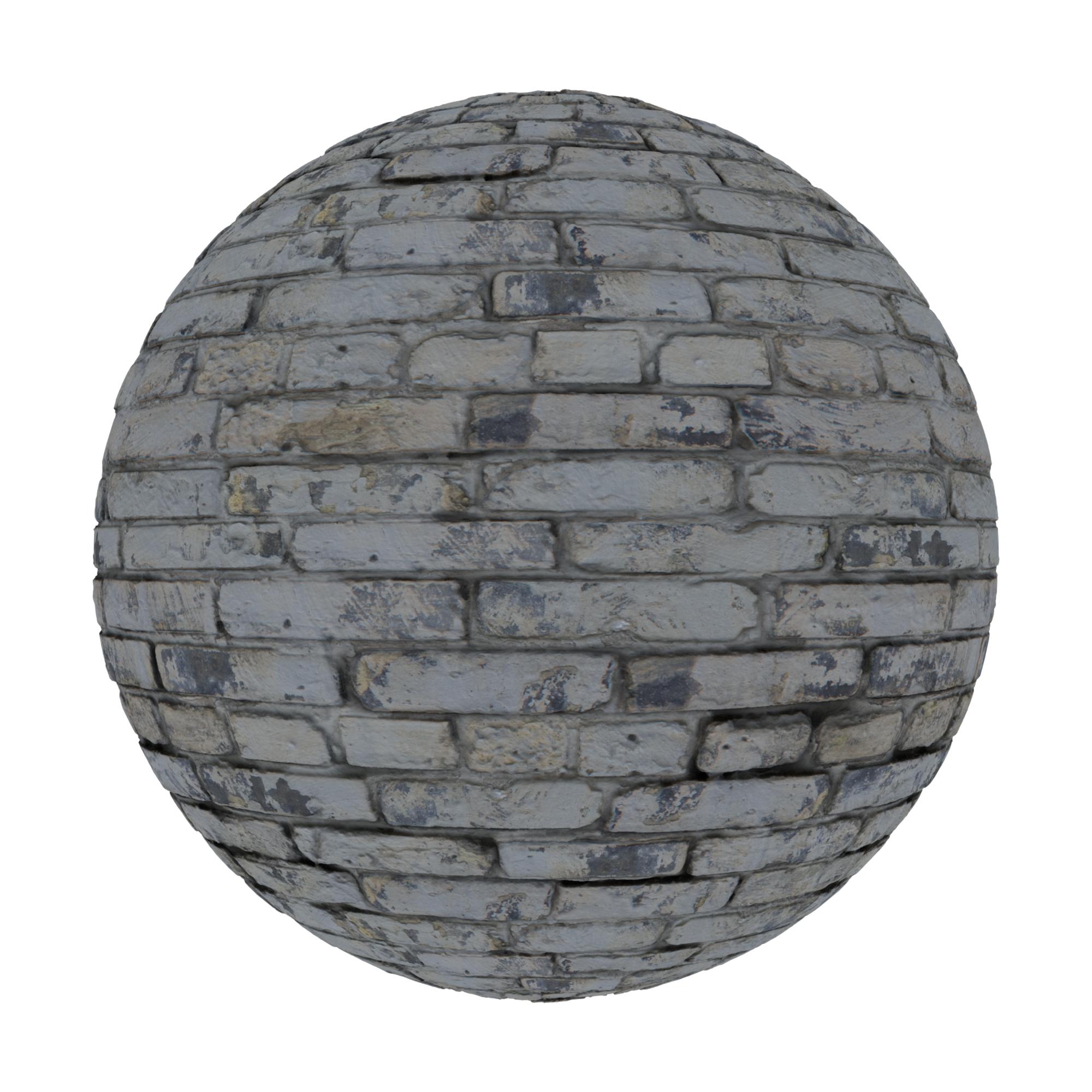Bricks White Washed Old Light Sphere